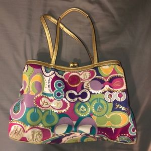 Coach Poppy collection shoulder bag